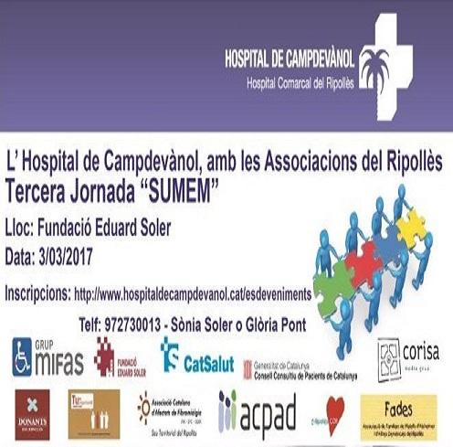 """El Ripollès.Cor    present en la Tercera      Jornada  """"SUMEM""""        organtzada per Hospital Campdevànol"""
