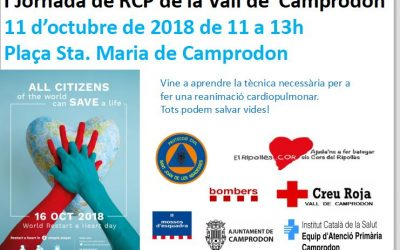 I Jornada de RCP de la Vall de  Camprodon, dia 11, us hi esperem gràcies
