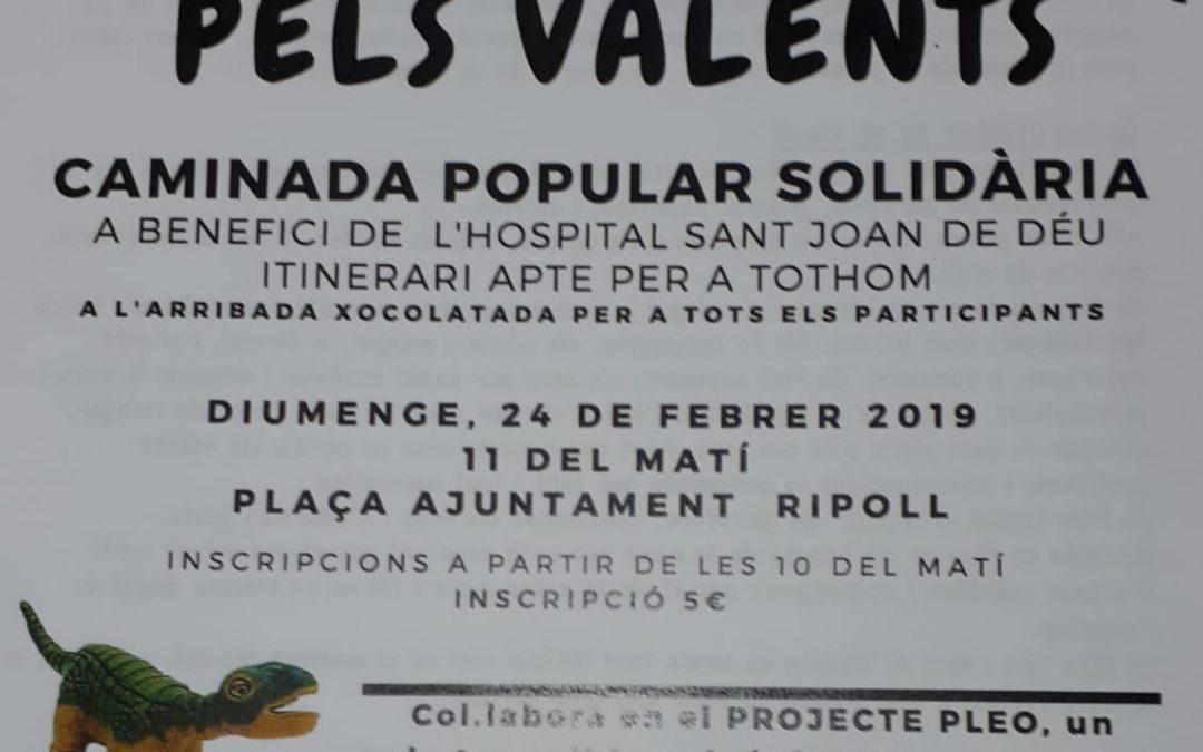 fotos i vídeos . col.laborem amb la caminada popular solidària a benefici del l' Hospital Sant Joan de Deu  dia 24 de febrer