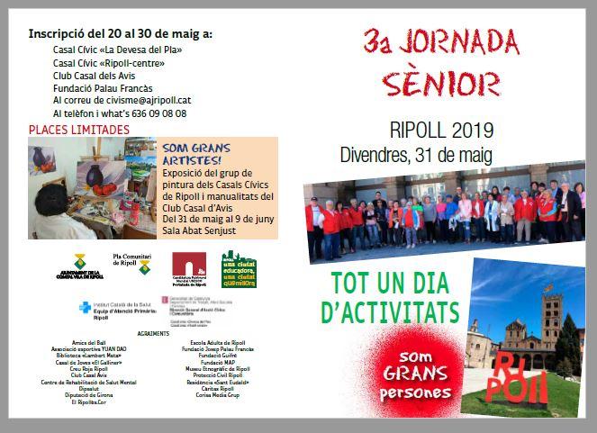 Col·laboració amb  3a jornada senior Ripoll dia 31de maig, us hi esperem gràcies